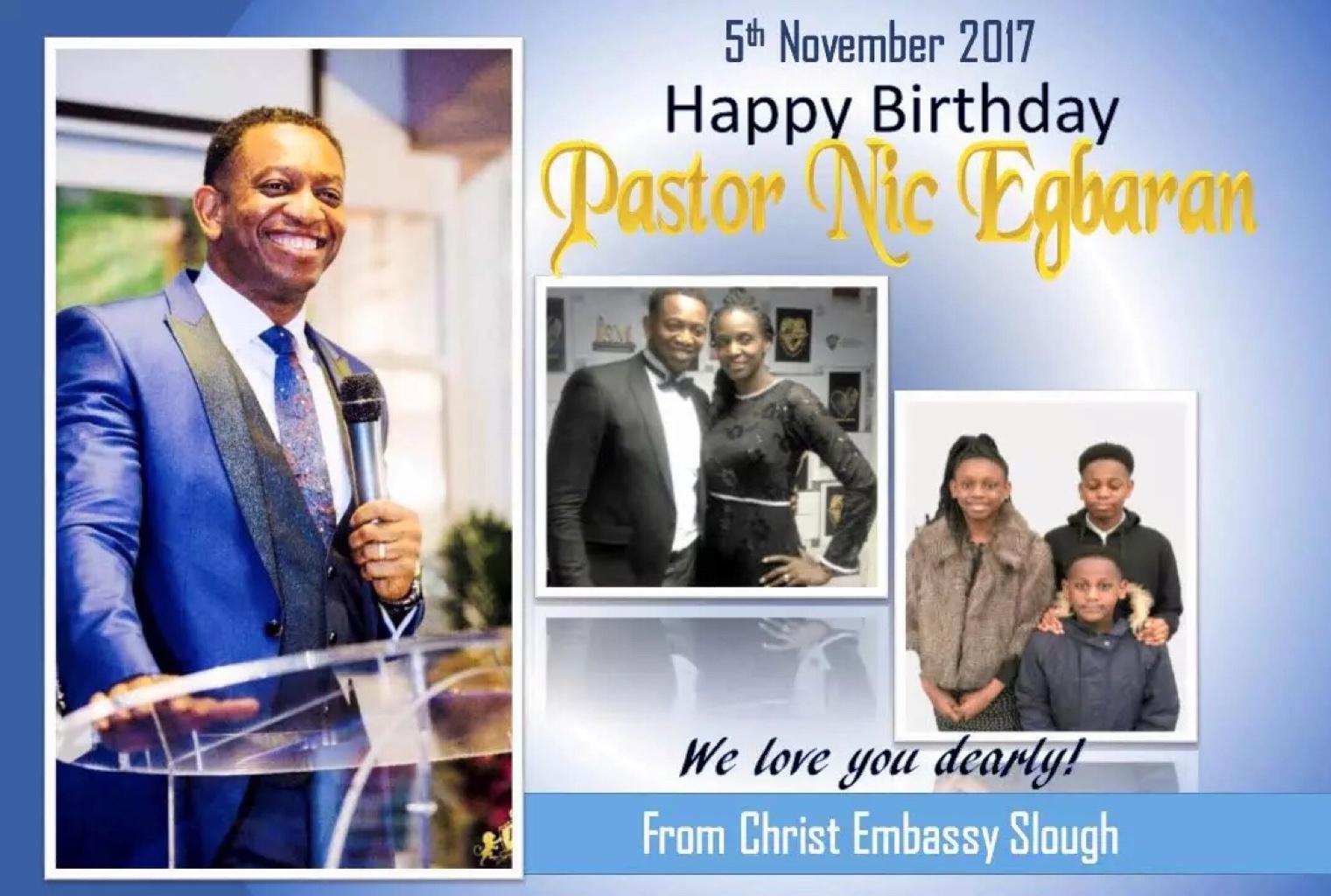 Happy birthday to a Pastor