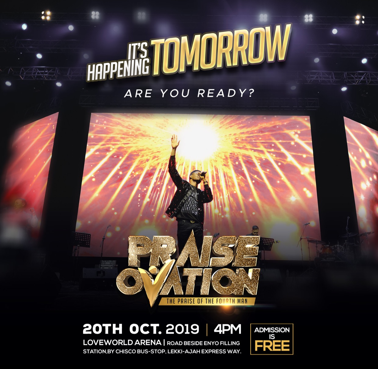 PRAISE OVATION IS TOMORROW... 2