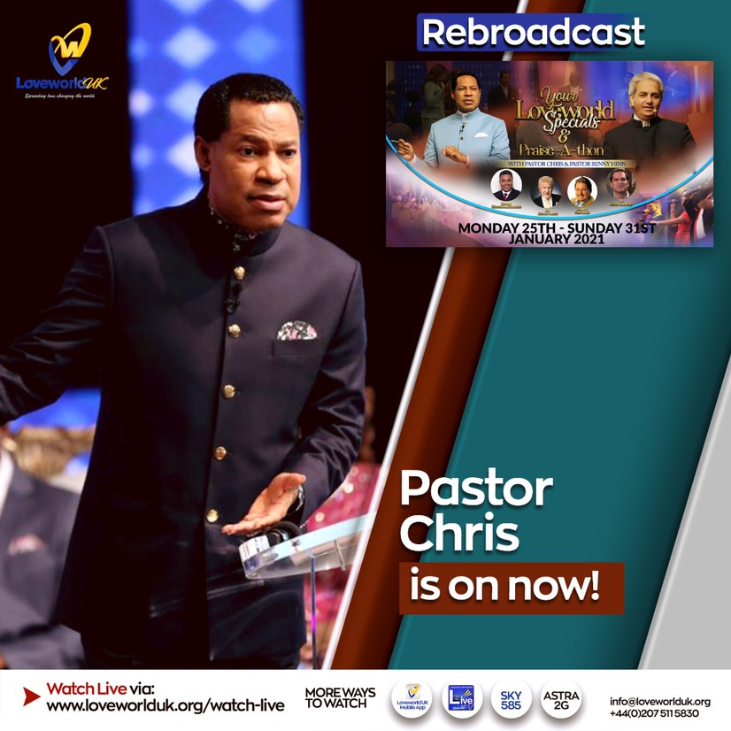 HAPPENING NOW: YOUR LOVEWORLD REBROADCAST