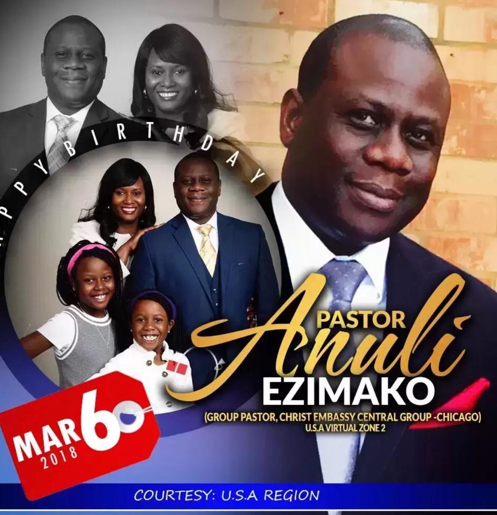 Happy Birthday Pastor Anuli. Thank