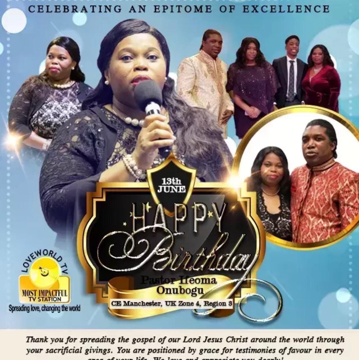 Happy birthday dear Pastor Ifeoma