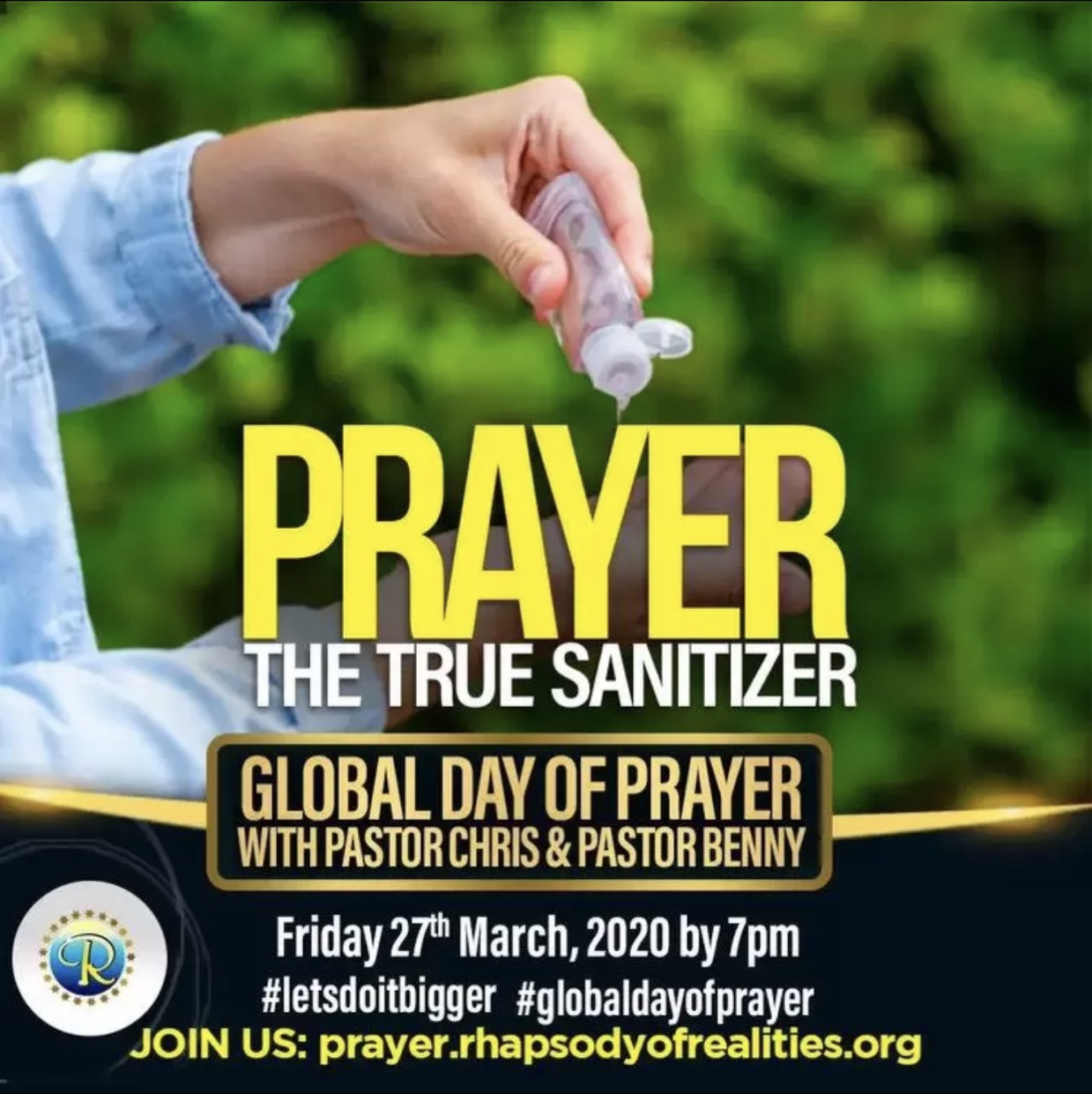 Prayer is the true sanitiser