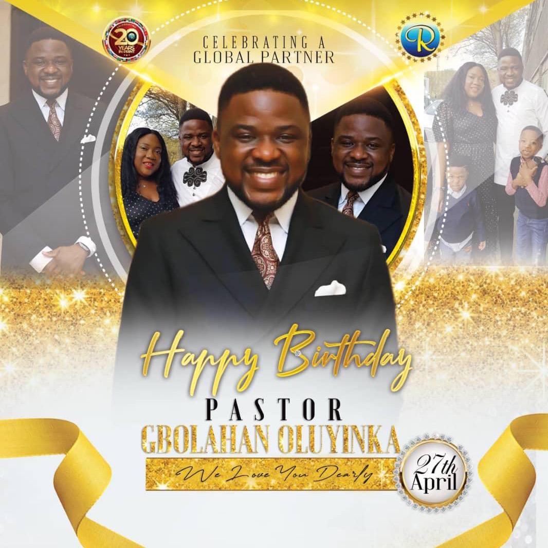 Happy birthday dear Pastor G.