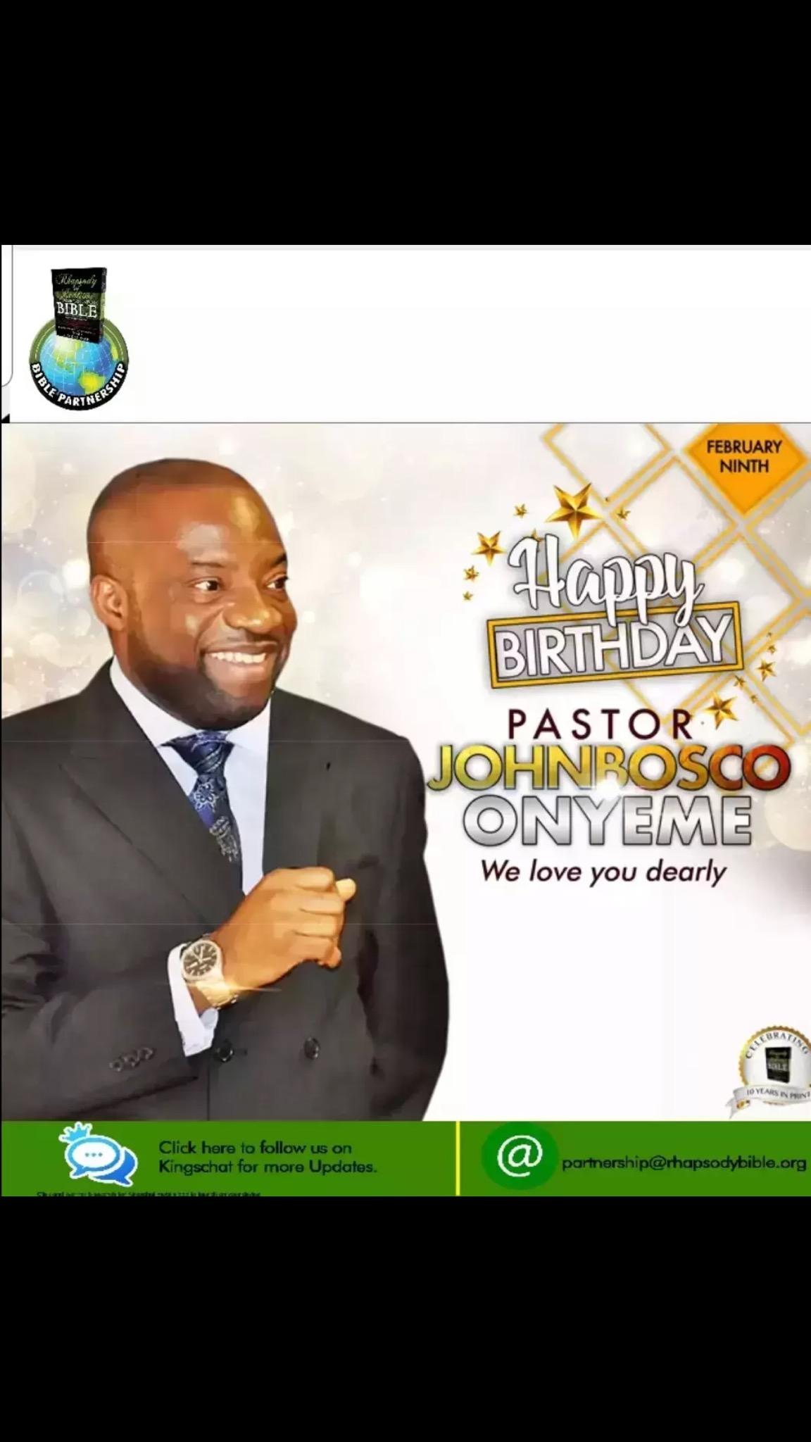 Happy birthday beloved Pastor Bosco.