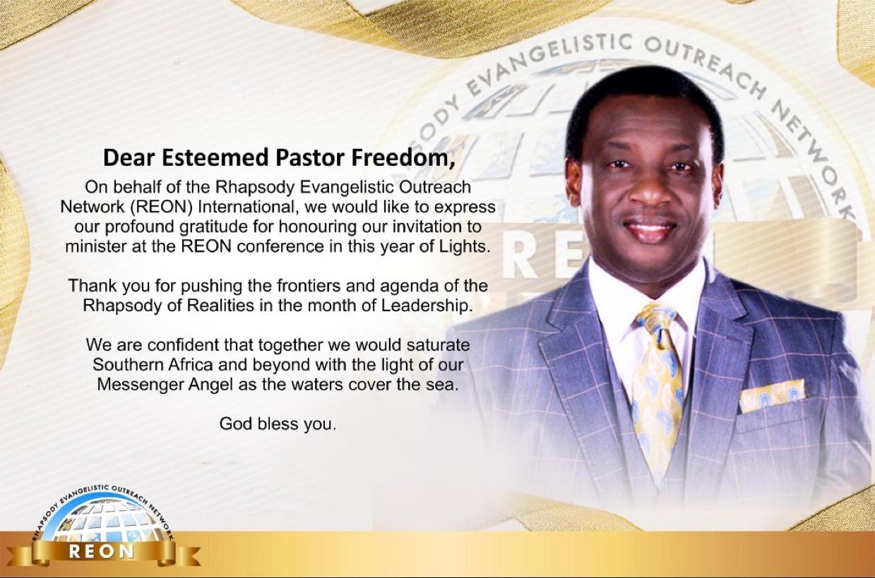 Rhapsody Evangelistic Outreach Network (REON)
