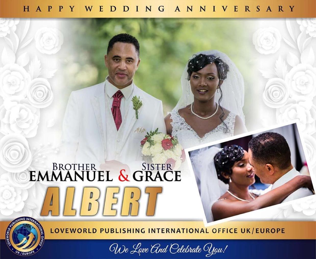 Happy wedding anniversary to you