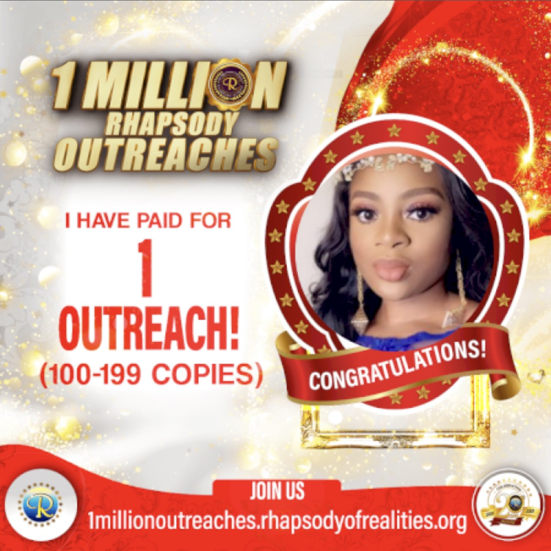 One outreach completed more to
