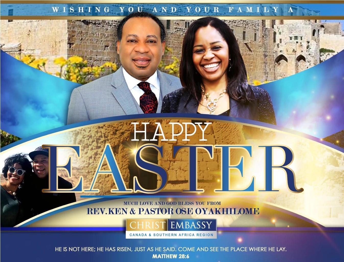 Happy Easter. Celebrate Jesus.