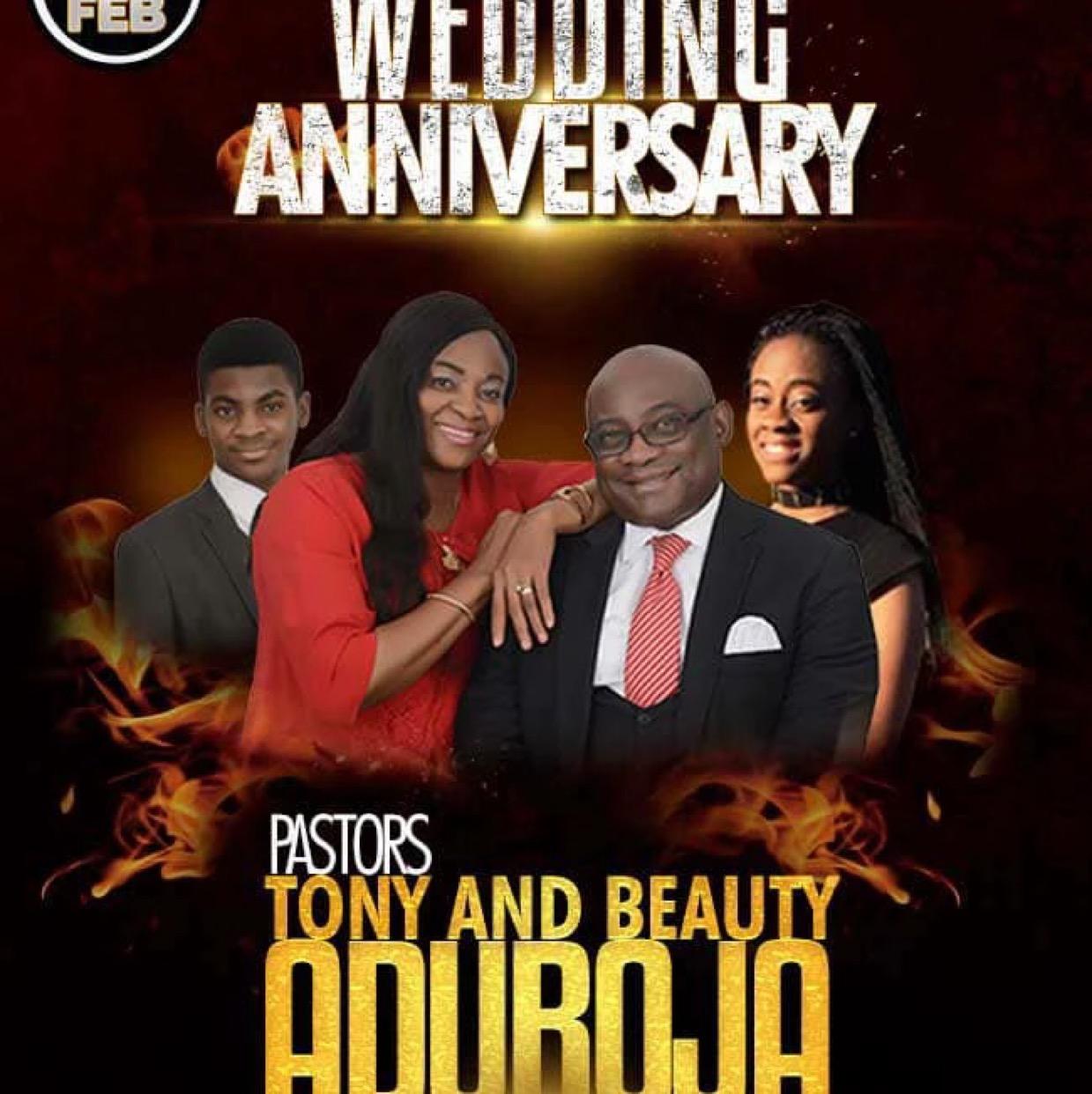 Happy wedding anniversary Pastors