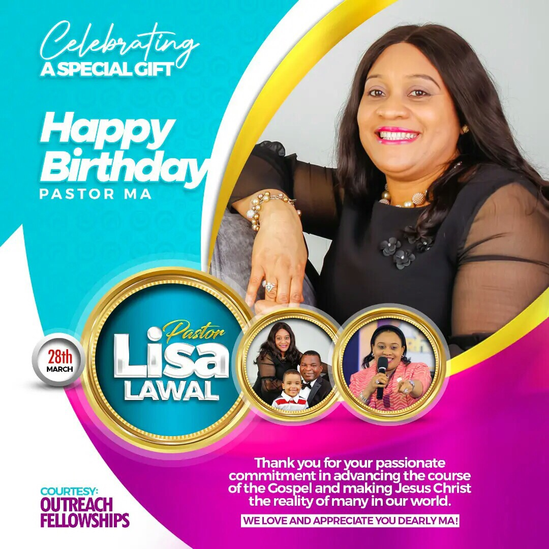 Happy Celebration Birthday Pastor Lisa