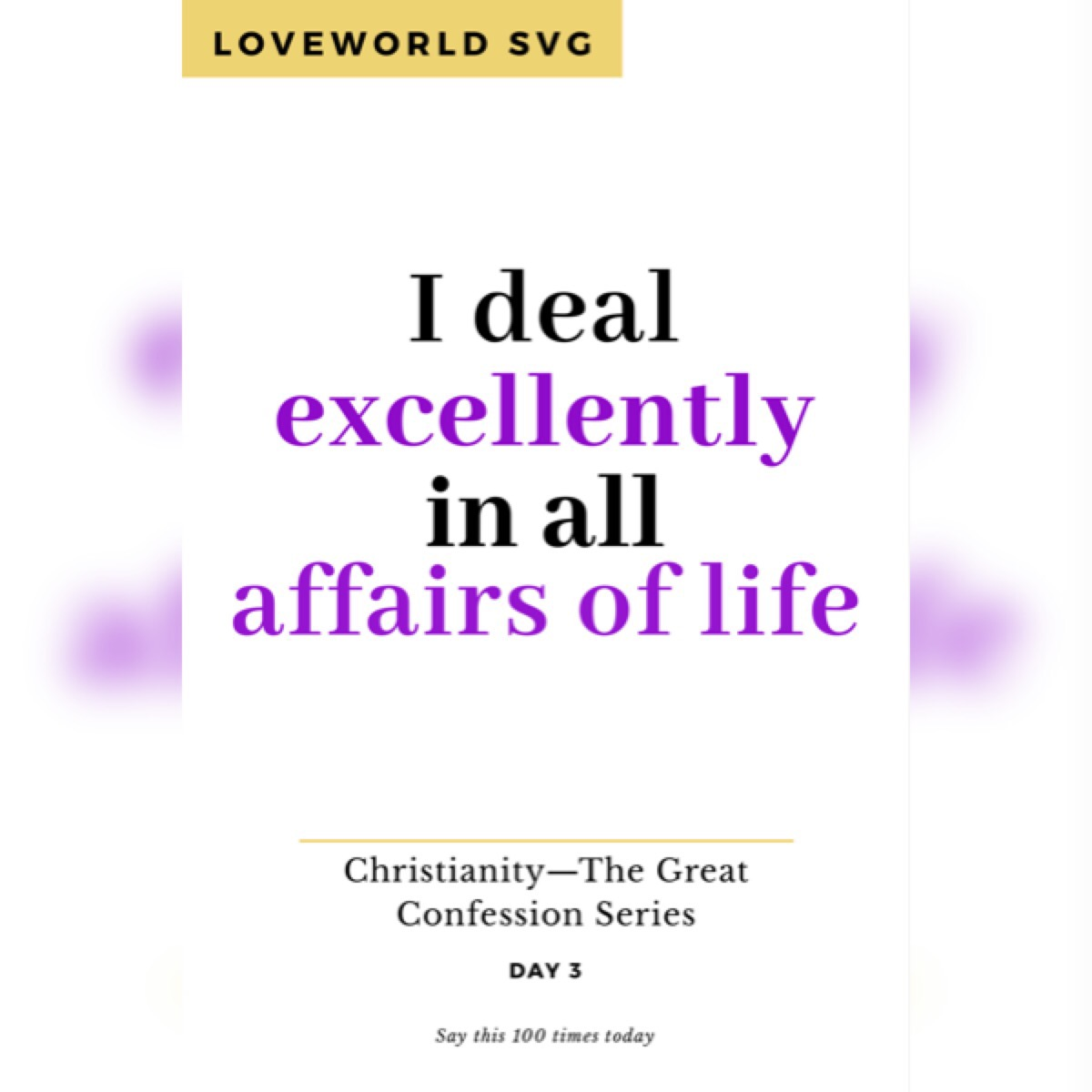 Christianity— The Great Confession Series