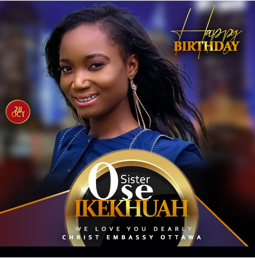 Happy Birthday Sis. Ose Keep