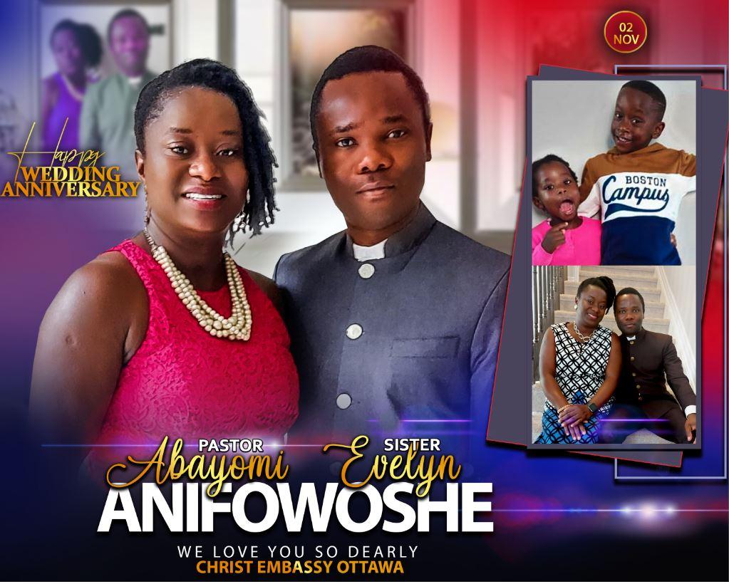 Happy Wedding Anniversary to Pastor