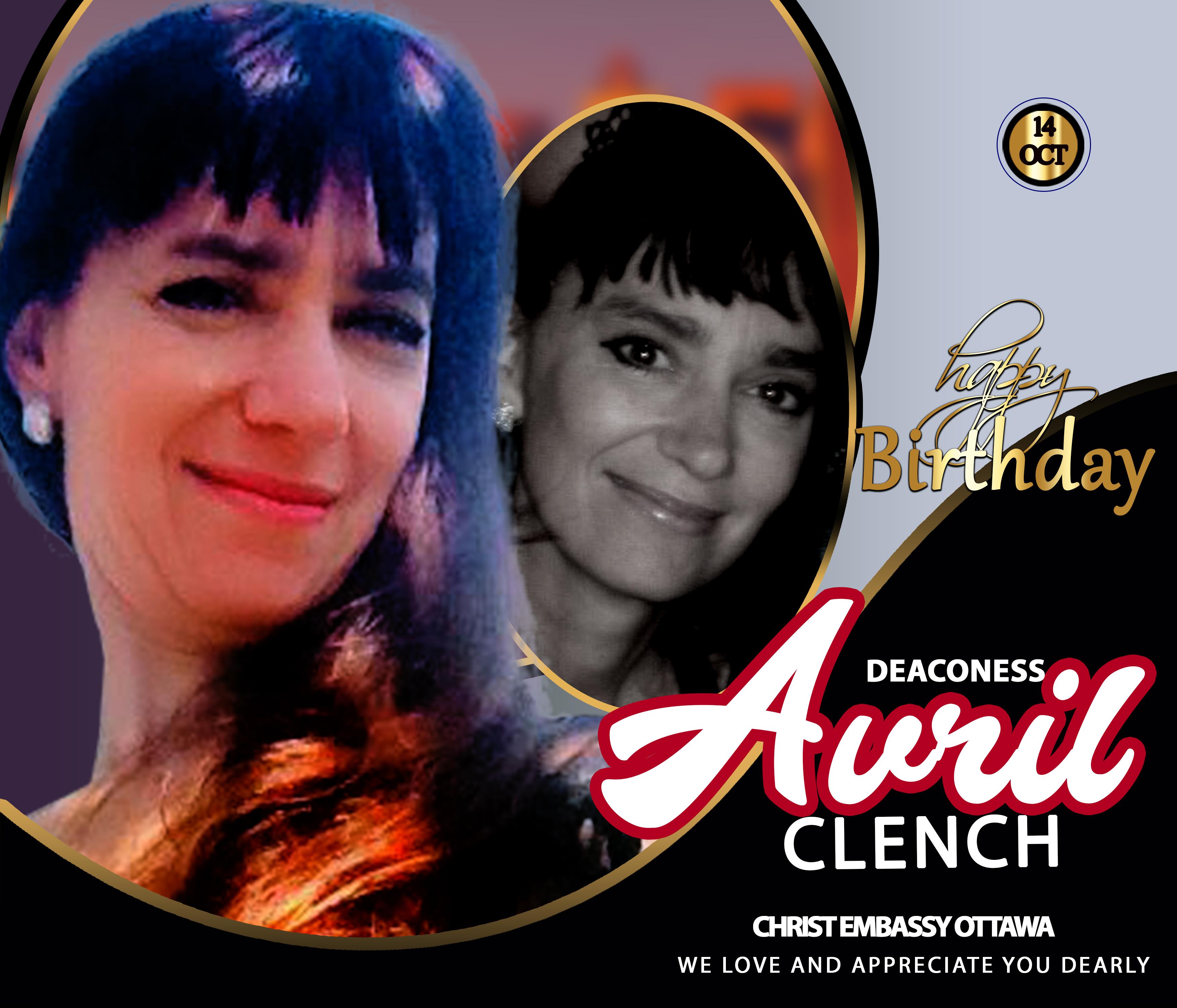 Happy Birthday dear Deaconess Avril.