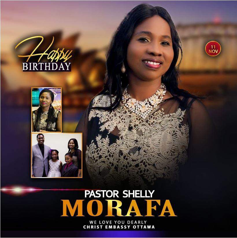 Happy Birthday Pastor Shelly. We