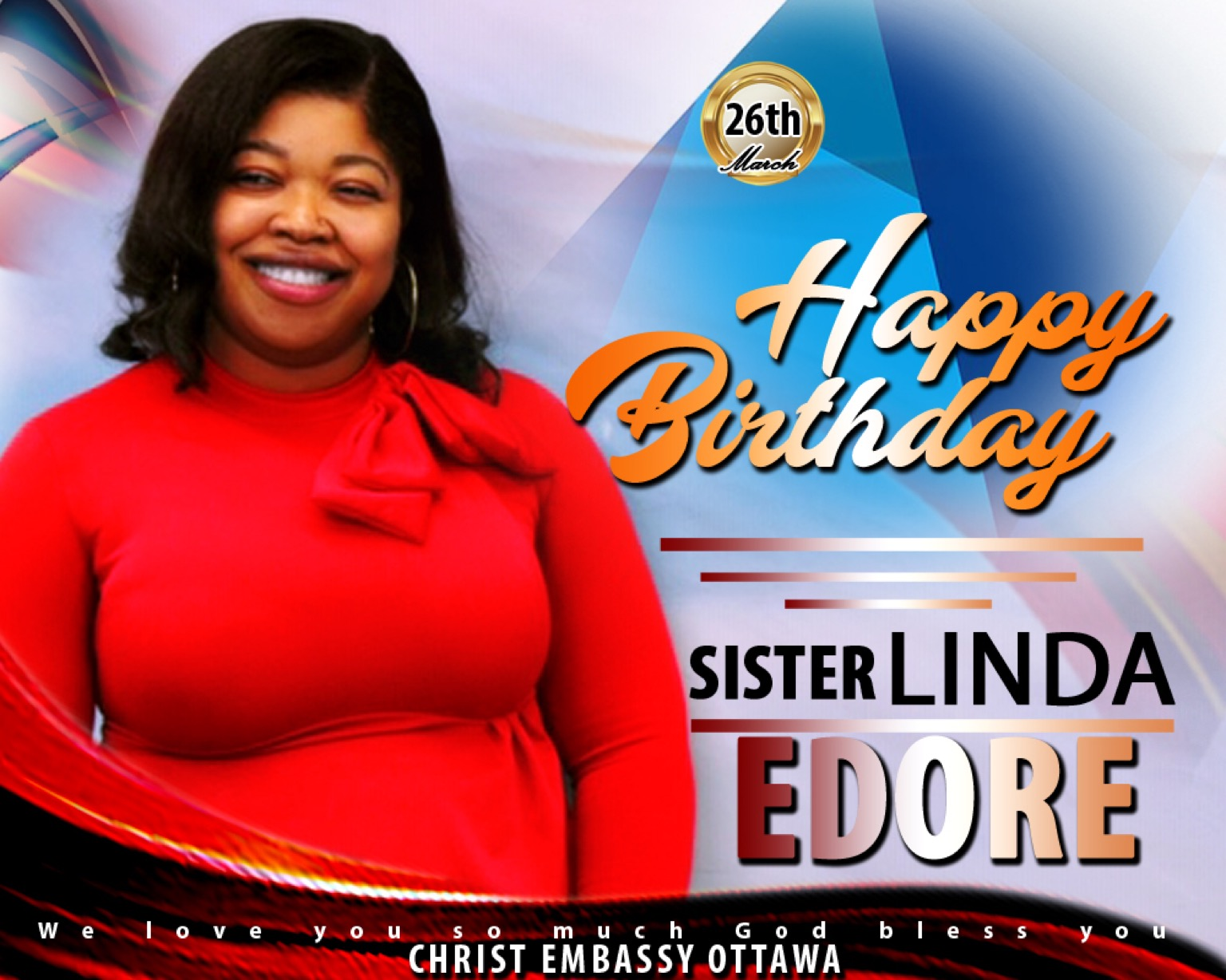 Happy Birthday Sis. Linda. #CeOttawa