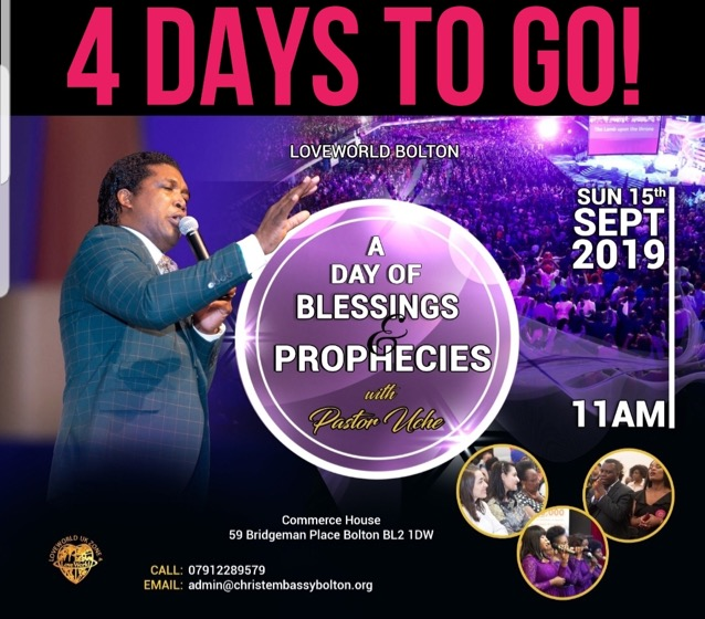 Loveworld Bolton this Sunday is