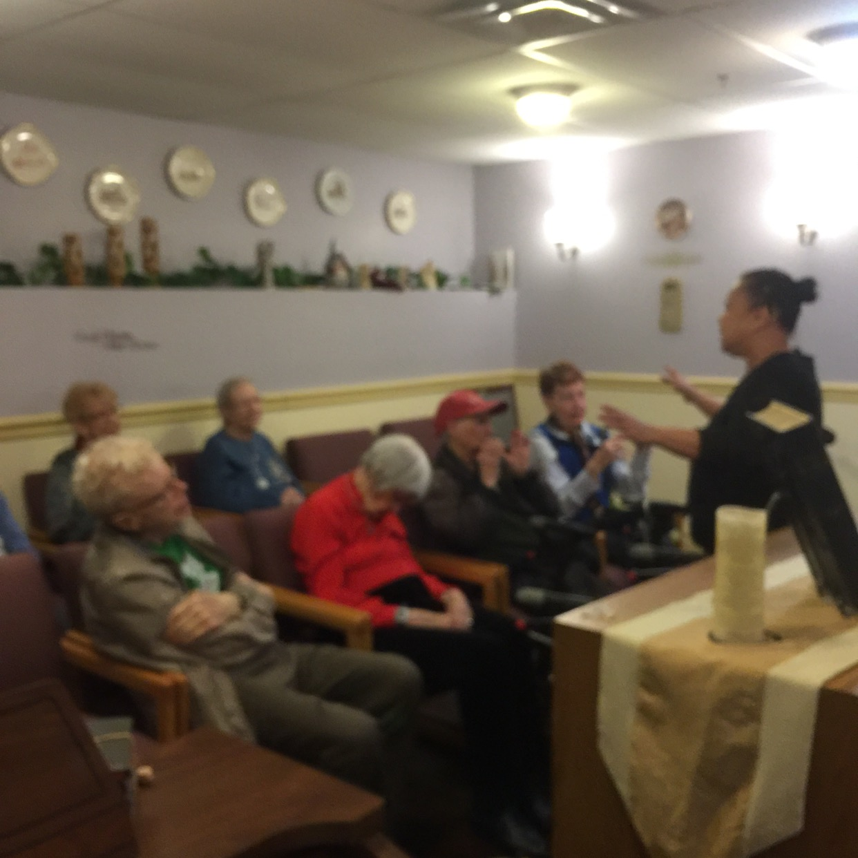 Bible study in nursing home,3