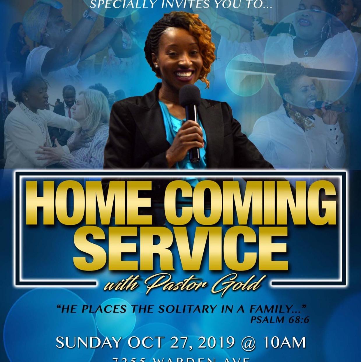 Amazing program, Home coming Service