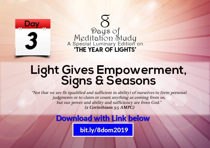 It's Day 3! LIGHT GIVES