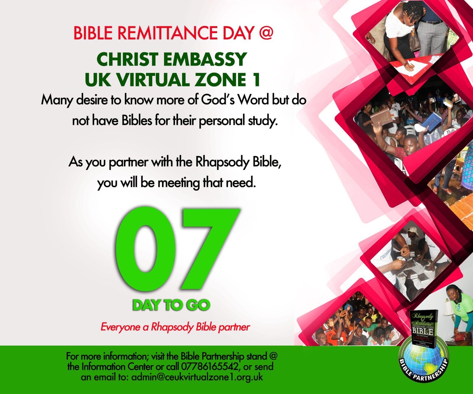 Be a Bible Partner! Bible