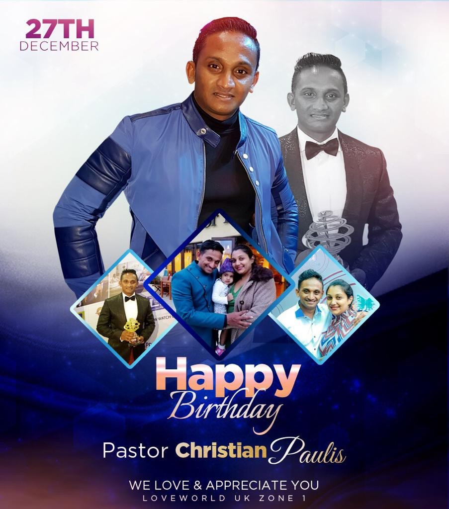 DEAR PASTOR CHRISTIAN, YOUR PASSION