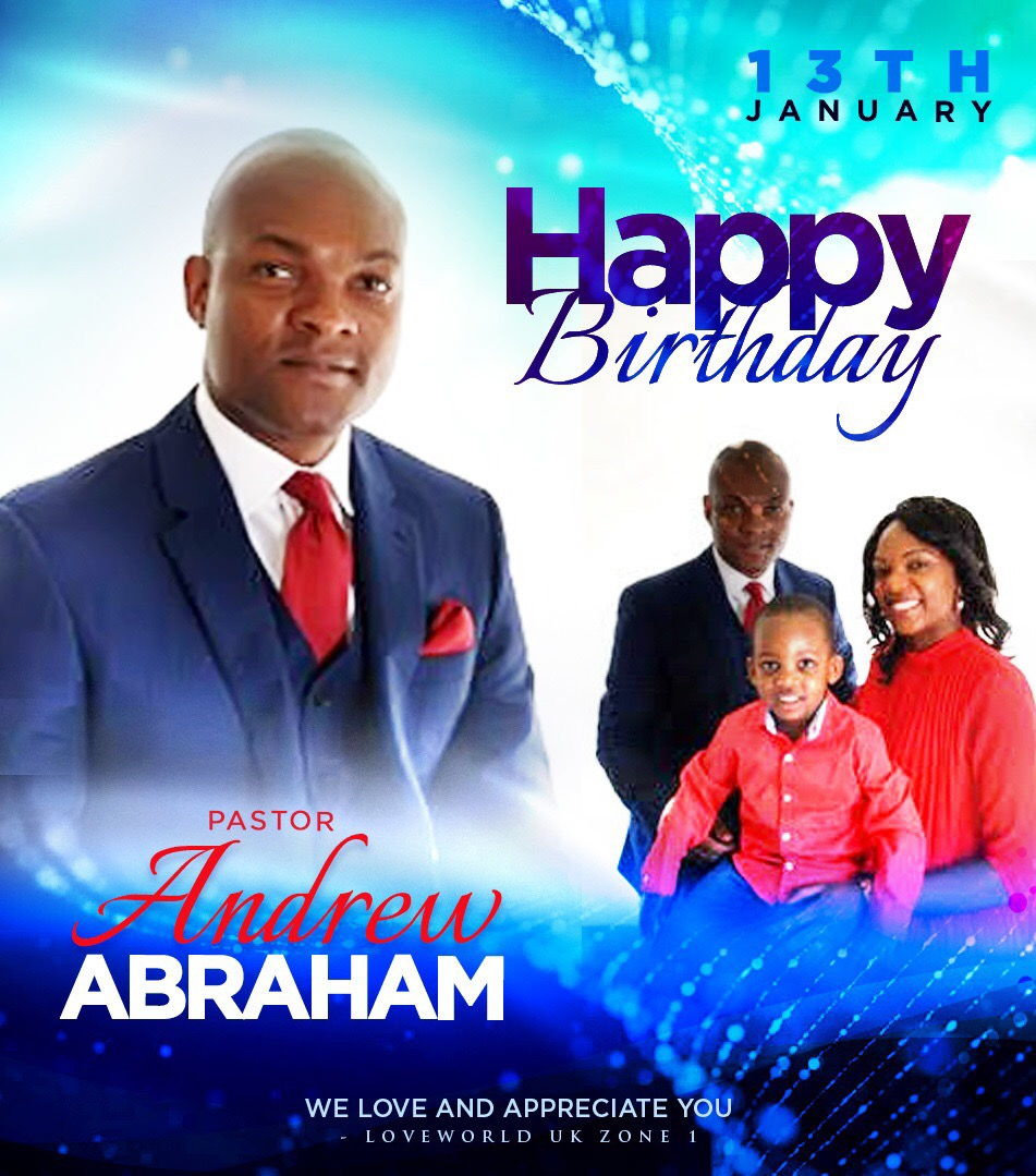 HBD PASTOR ANDREW! Always great