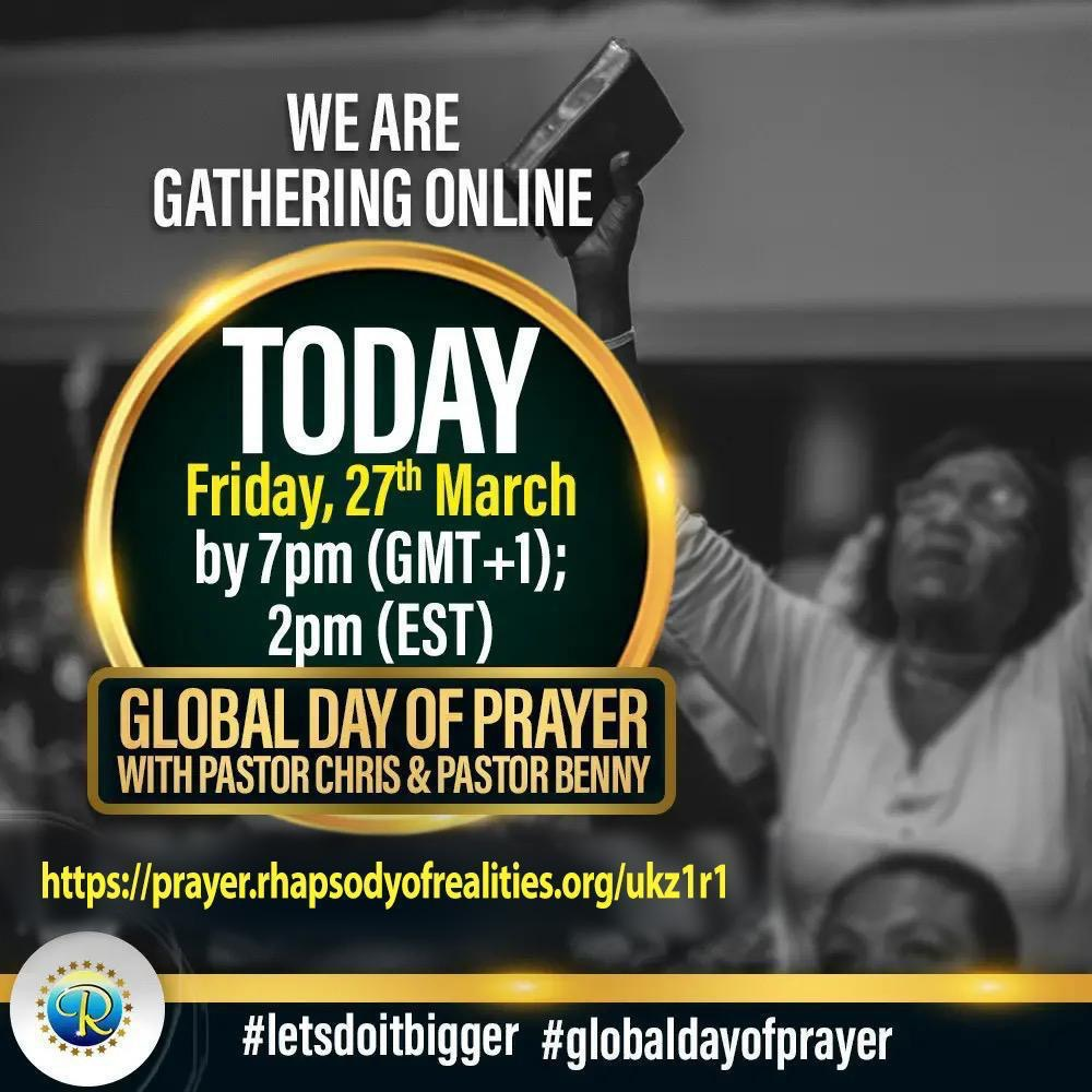 GLOBAL DAY OF PRAYER! Log