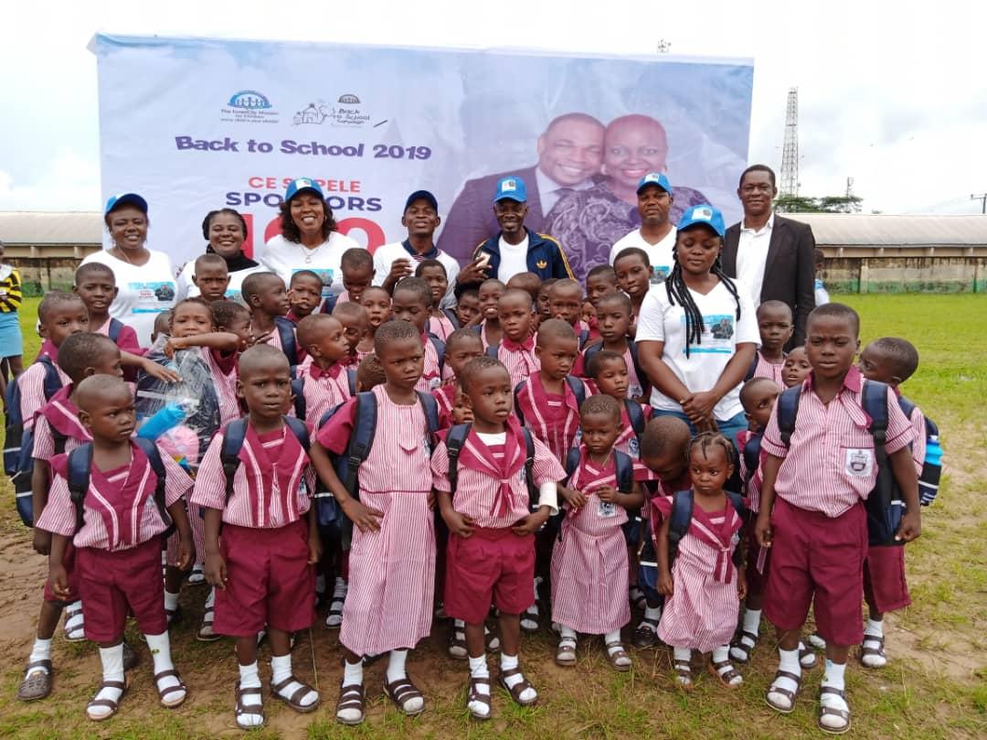 CESAPELE SPONSORS 100 CHILDREN BACK