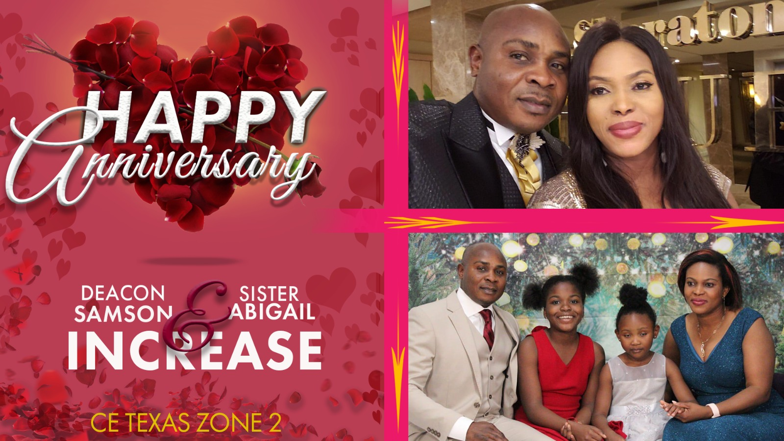 happy anniversary deacon sir and