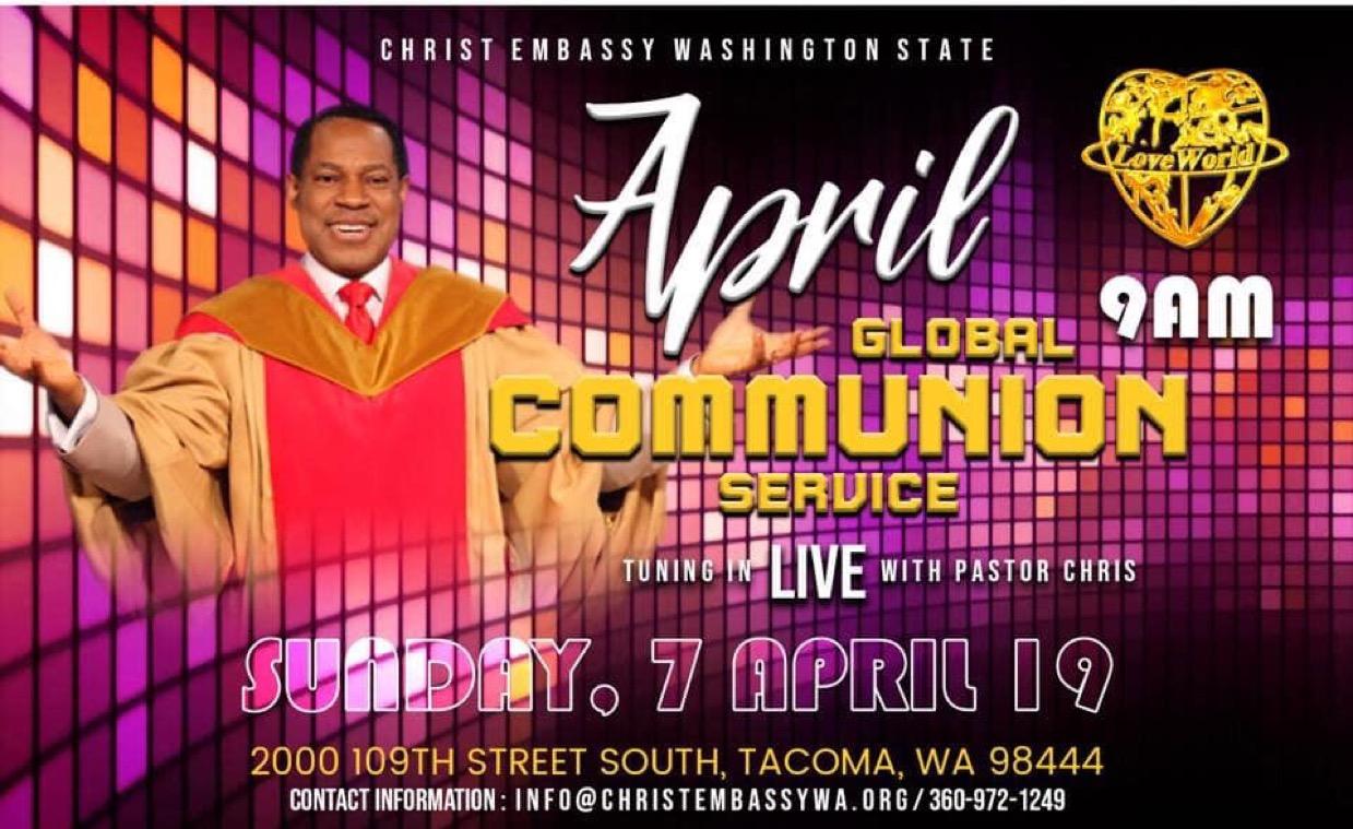 Hallelujah! Today is Communion service!