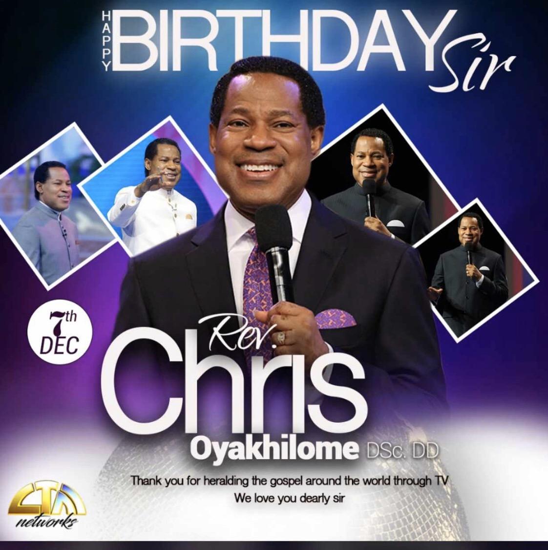 Happy birthday Pastor Chris, my