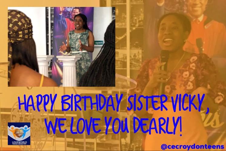 Birthday shoutout to Sister Vicky