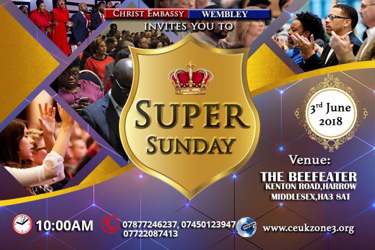 Super Sunday @CEWEMBLEY THIS SUNDAY