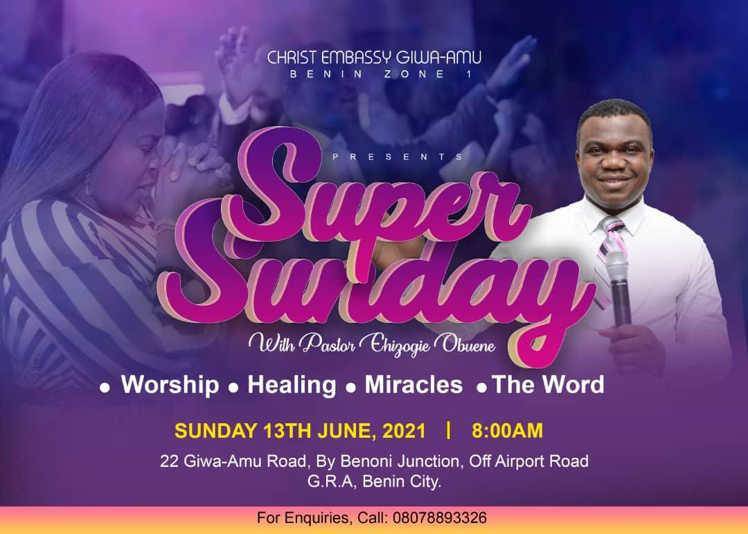 Happening this Sunday! Super Sunday,