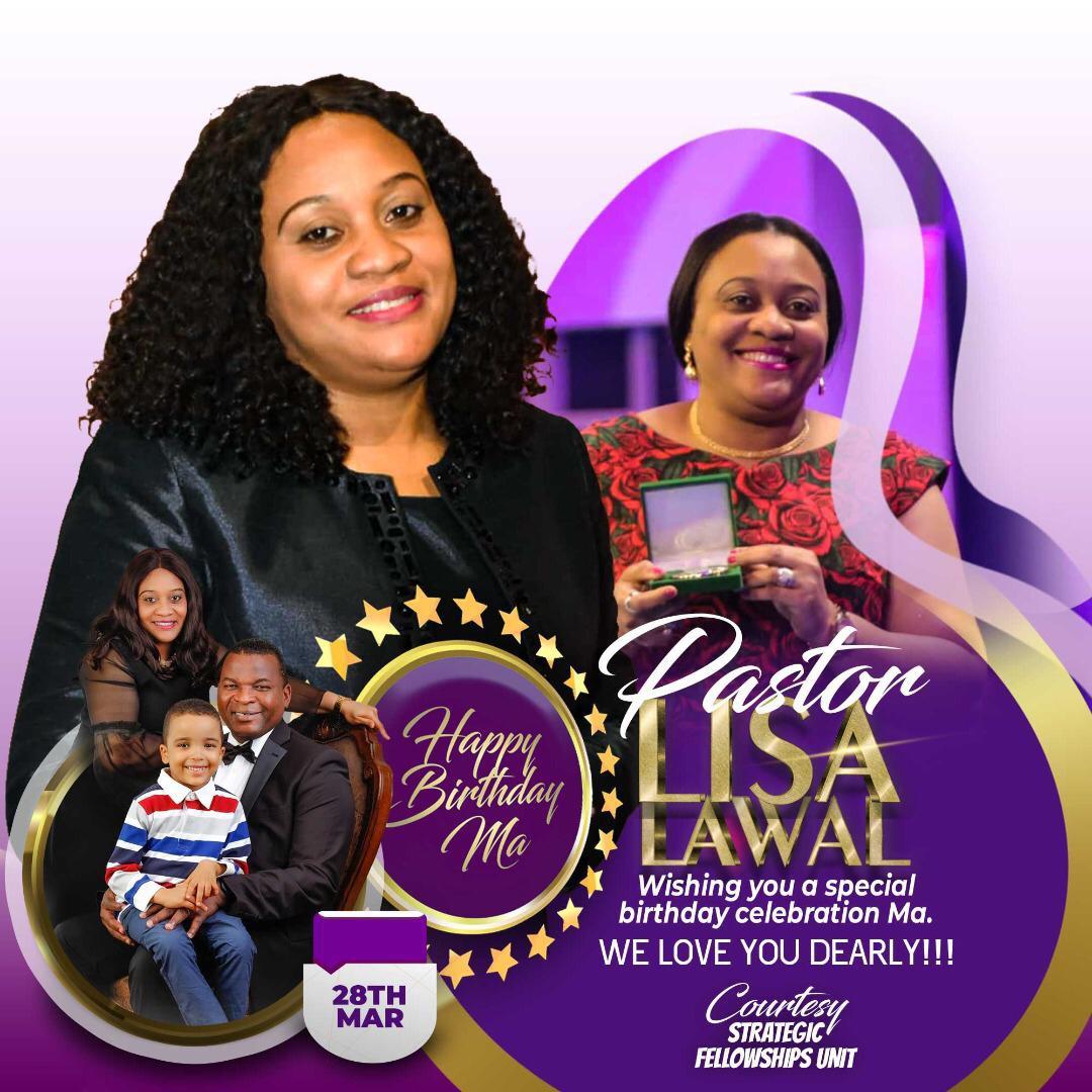 Happy birthday Pastor Lisa ma!