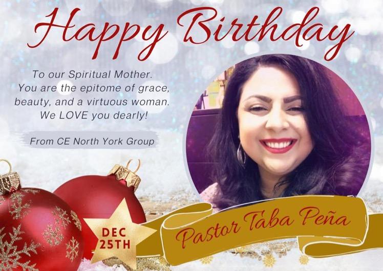 Happy Birthday Pastor Taba!!! You