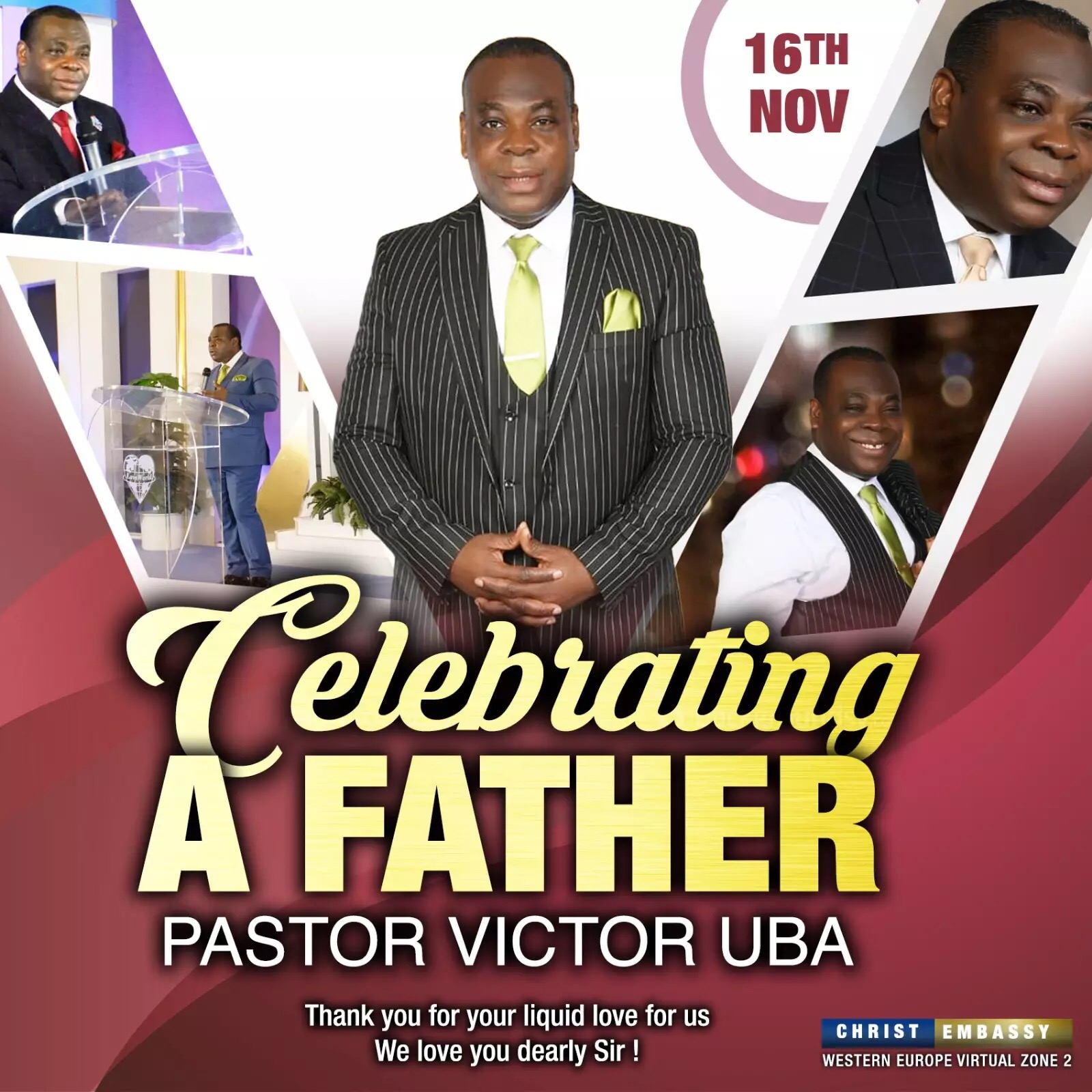 Happy birthday dear Pst Victor.
