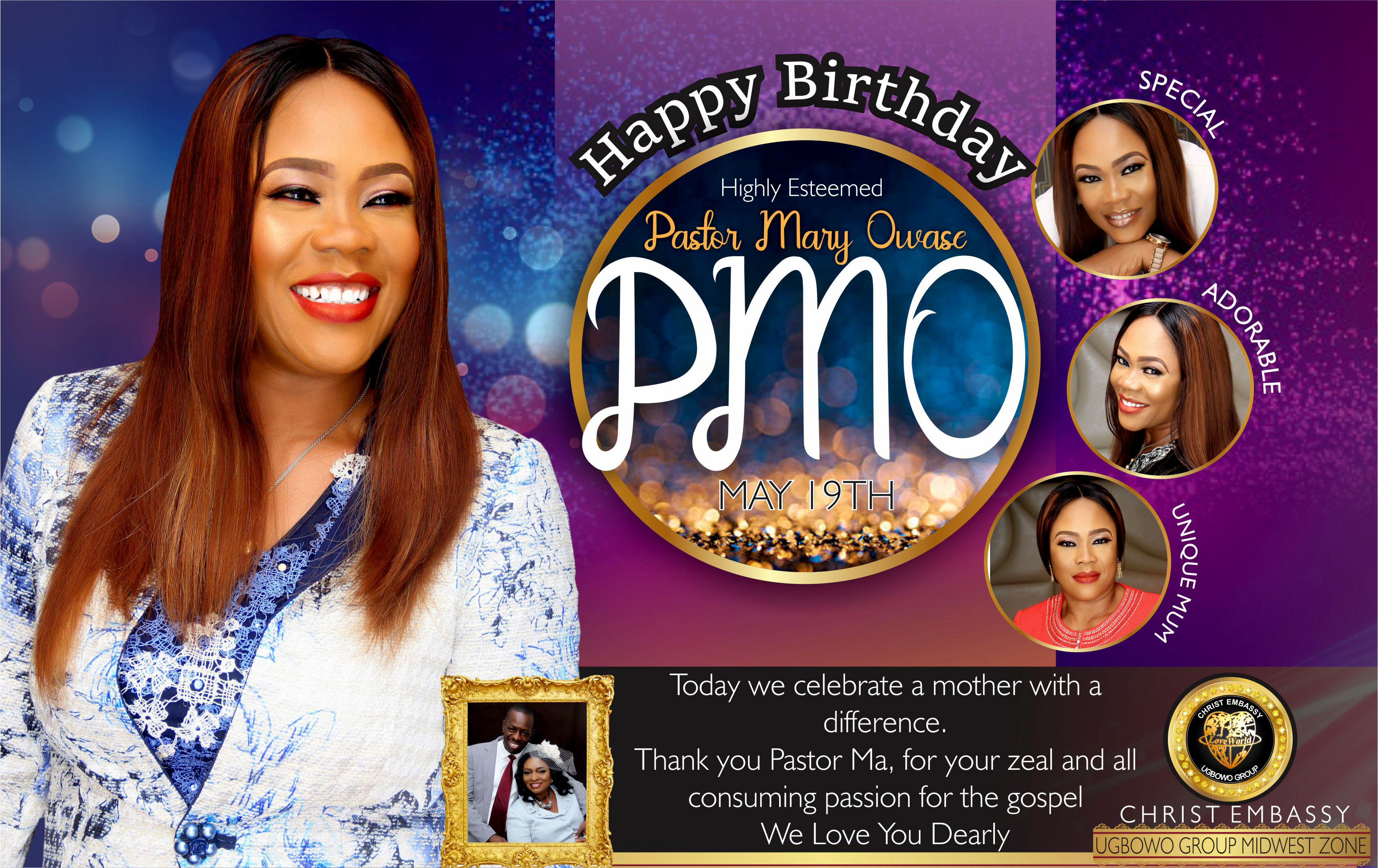 We Celebrate you today with