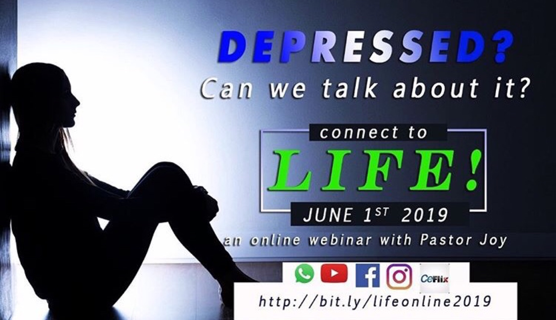 Depressed?? Join Life conference #Life#PastorJoy#