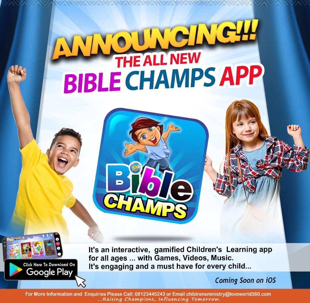 It's The Bible Champs App!🥳