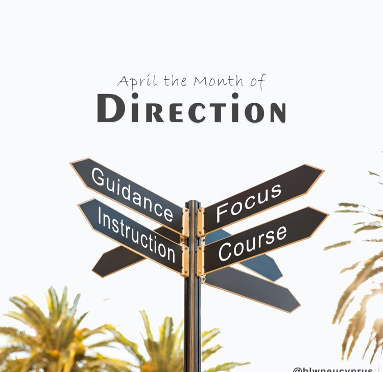 April our month of Direction