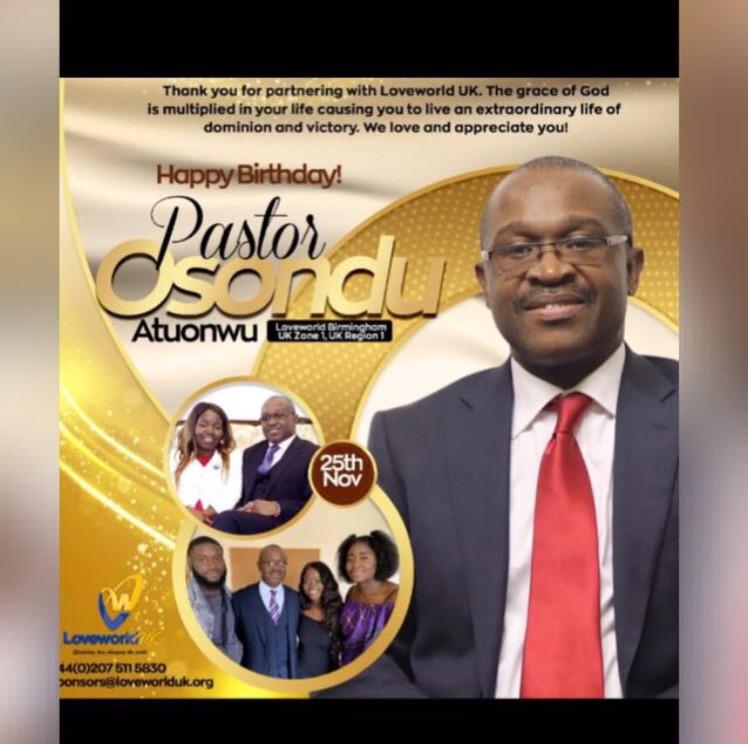 Happy birthday 🎂 Pastor. Thank