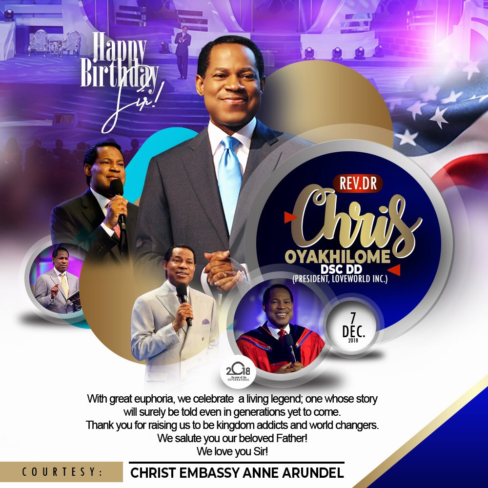 It's Pastor's Birthday. Happy Birthday