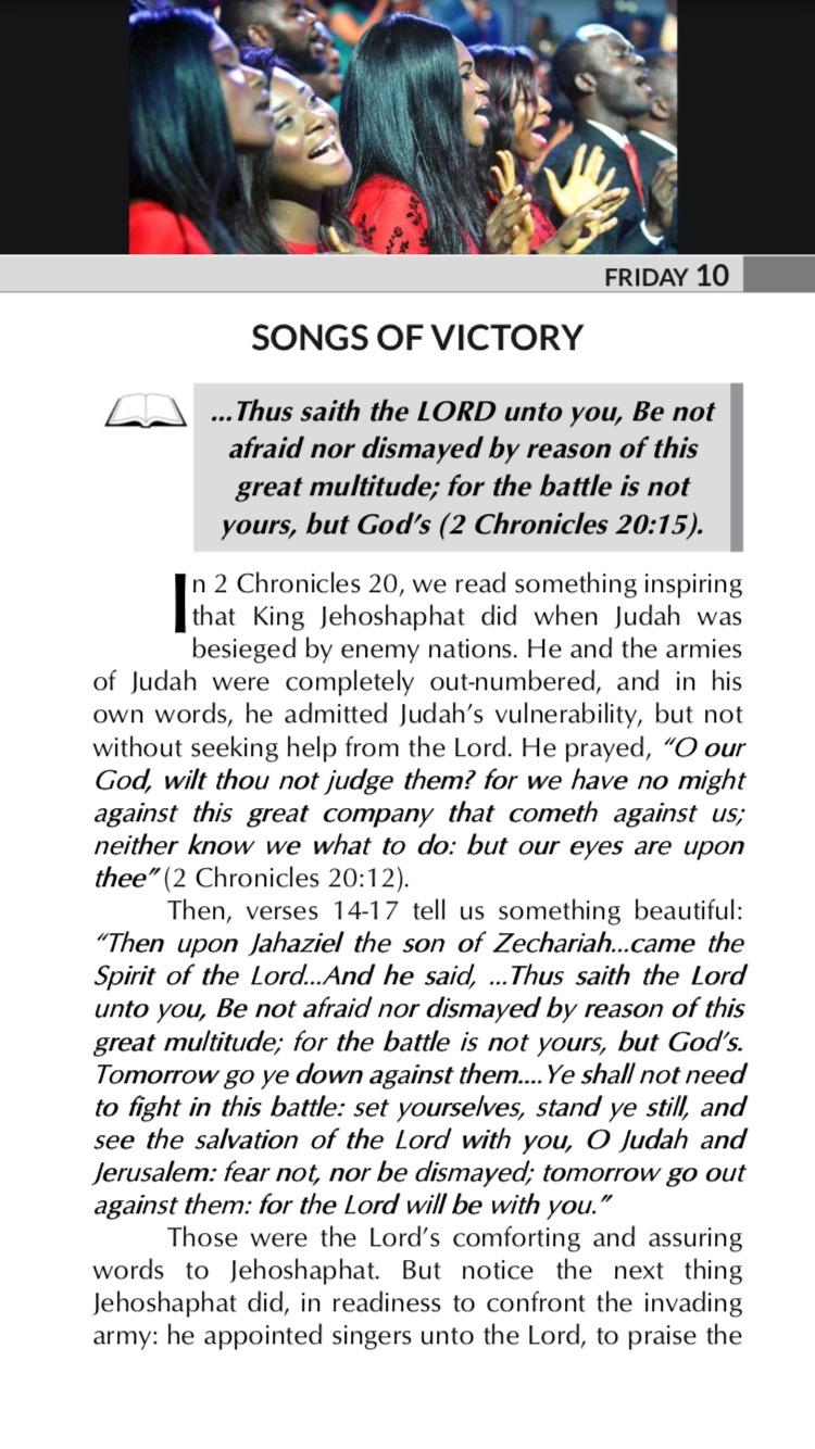 SONGS OF VICTORY ....Thus saith