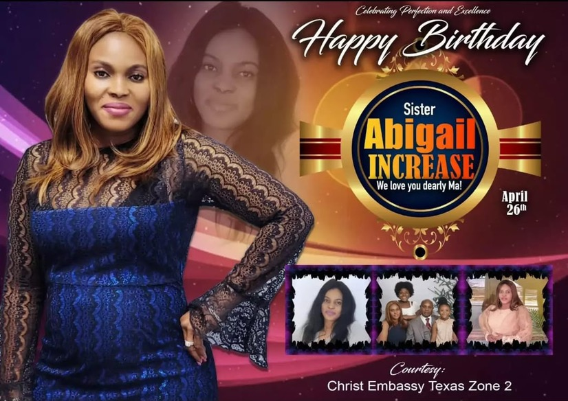 Happy mbirthday Sister Abigail. It's