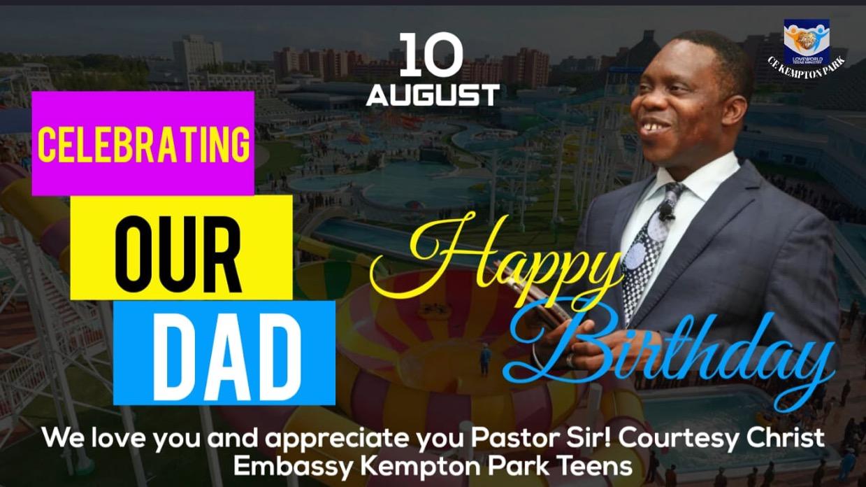 Happy Birthday Pastor Lawrence.💃🏽 Thank