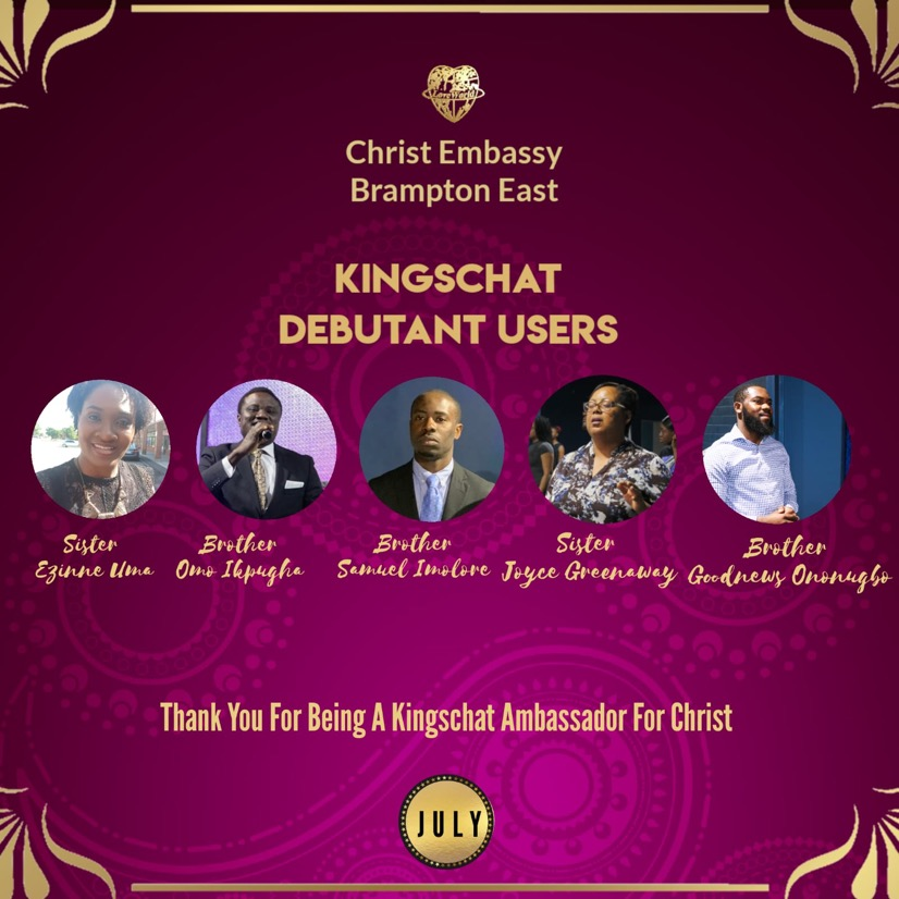 💥CELEBRATING OUR KINGSCHAT AMBASSADORS FOR