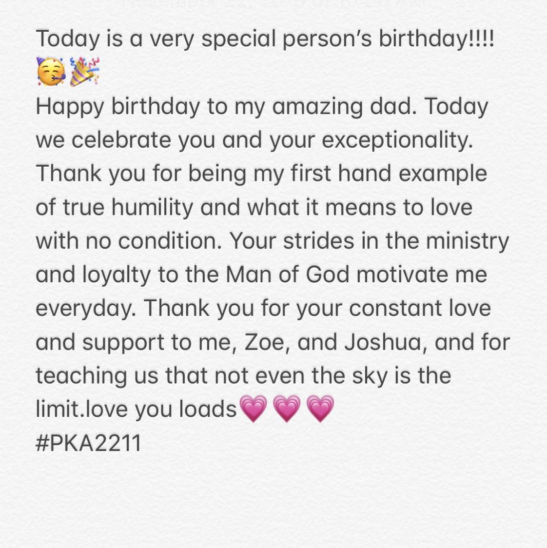 Happy birthday dad!!!🎉🎉🎉❤️ #PKA2211