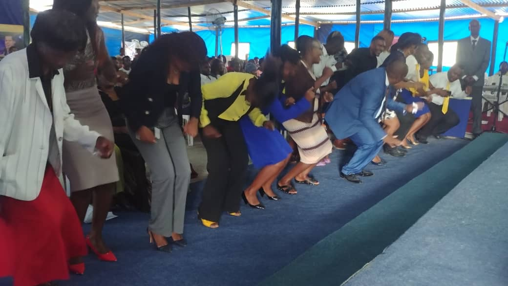 Rejoicing and celebration at the